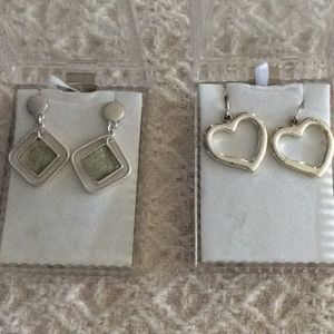 Jewelry - 🟣2 Pairs of Silver Earrings